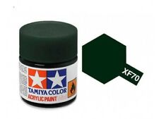 Tamiya Color Acrylic Paint Mini Dark Green 2 10ml #81770 #XF-70 2 Bottles