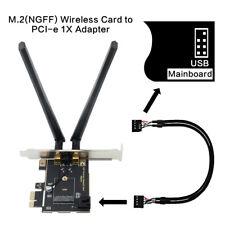PCIE Desktop wifi Adapter PCI-E X1 Converter For Intel Wi-Fi 6 AX200 wifi card