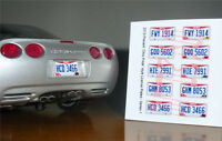 CURRENT STYLE OHIO miniature LICENSE PLATES for 1/25 scale MODEL CARS