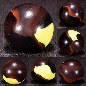 Marble King or Peltier CHOCOLATE BEE Late Period Marble 5/8 mint hawkeyespicks