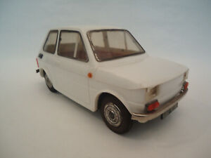 Vintage Polski Fiat 126p CZZ Poland Plastic & Tin Friction Toy Car-First Edition