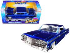 1/24 Jada 1964 Chevrolet Impala Lowrider Series Street Low Diecast Blue 98932