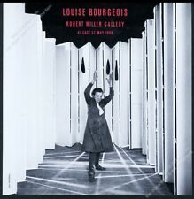 1986 Louise Bourgeois photo NYC gallery show vintage print ad
