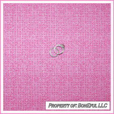 BonEful Fabric FQ Cotton Quilt PINK Princess Girl Blender Tweed Small Cottage US