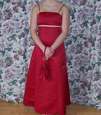 """Red Prom Gown """"Forever Yours"""" Petites, Polyester  SZ 16P Free Shipping"""