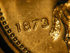 ** DOUBLE 1873 & C ** Deficient plating reverse ** 1973 RCMP 25 cents CHOICE BU