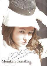 Autogramm AK Monika Sozanska Fechten Degen Vize-WM 2010, deutsche Meisterin 12 3