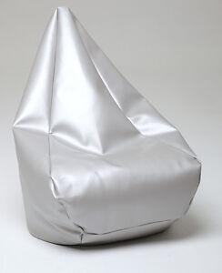 Chillizone Bean Bag Silver Vinyl