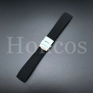 20 MM Color Silicone Rubber Watch Band Strap Deployment Clasp Replacement USA
