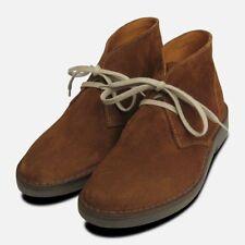 Ladies Siena Brown Suede Italian Desert Boots