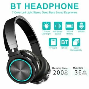Bluetooth 5.0 Kopfhörer On Ear Stereo Bass Headphones Für Handy Smartphone DHL