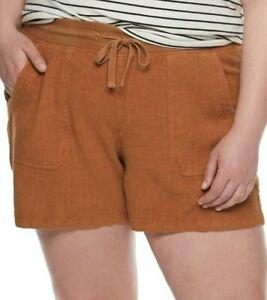 EVRI Soft Utility Women's Shorts Plus size 22W