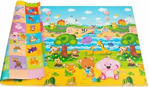 Baby Care Play Mat - Non-Toxic Non-Slip Reversible Waterproof Large (Open Box)