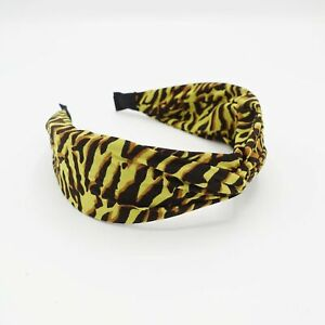 animal print headband cross hairband leopard python zebra print twist hair acces