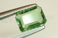 Green Tourmaline Octagon 1.37ct 7x5.5mm VS Loose Natural Gemstone Afghanistan