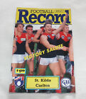1992 AFL Football Record St Kilda Saints v Carlton Blues Vol.81 No.21