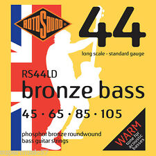 Rotosound Set RS44LD Phosphor Bronze Roundwound Bass Strings 45-105 Long Scale