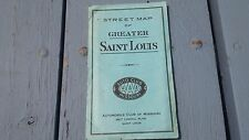 Rare AAA Street Map St Louis Missouri Large Pocket Fold Out Map 1940'S 1950'S