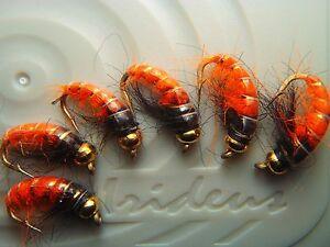 Irideus Fireball Czech Nymph flies Bottom Roller Flesh Maggot Trout Fly Fishing