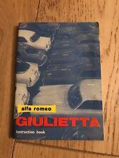 ALFA ROMEO GIULIETTA  SPIDER HANDBOOK
