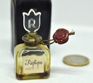 Flacon parfum miniature vintage Réplique par Raphaël dans son étui cuir - N°240