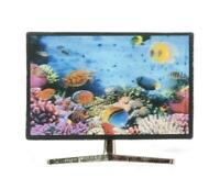Dolls House Smart TV Television with 3D Fish Image 1:12 Living Room Accessory