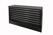 Shop Counter with Slatwall Front- Black- 1500L