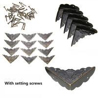 4 Schutzecken Füße Möbelfüße Kantenschutz 19x11mm antikmessing