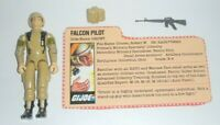 1983 GI Joe Falcon Pilot Tan Grunt v2 Figure w/ File Card *Complete + Extras