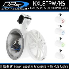 "DS18 NXL8TPW/NS 8"" Wakeboard Tower Speaker Enclosure + RGB LED (No Speaker)"