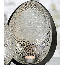 """Casablanca Schale Windlicht """"Egg"""" Obstschale Teelichthalter edel Metall 51608"""