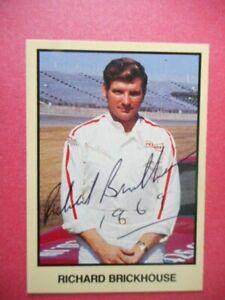Richard Brickhouse signed 1990 MOR 1969 DODGE DAYTONA WC Nascar Card #206