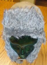 SCREAMER TRAPPER STYLE HAT FAUX FUR LINED IN VERY GOOD CONDITION ADULT SIZE S