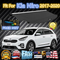 Fits 2017-2021 Kia Niro/EV/Plug-in Hybrid BLACK OE STYLE REAR CARGO COVER SHADE