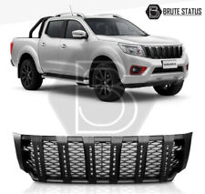 Front Grille with LED for Nissan Navara NP300 2015-2019 DRL Black Grill