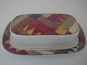 STUDIO NOVA PALM DESERT 1/4 Lb Covered Butter Dish VGC Southwest Style