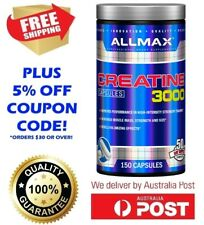 NEW! ALLMAX NUTRITION CREATINE 3000MG 150 CAPSULES PURE MUSCLE MASS STRENGTH
