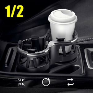 Car Accessories Seat Cup 2 Holder Drink Beverage Coffee Bottle Mount Universal