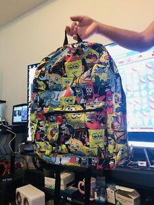 Spongebob Character AOP Backpack - NWT