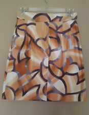 MISSONI Cotton Blend Abstract Grey Beige Browns Skirt Size 40