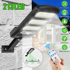 Solar LED Street Light Motion Sensor Remote Control Wall Flood Yard Outdoor Lamp