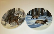 Lot of 4 Decorative Deer Collectible Plates