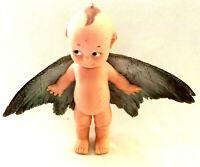 Vintage Kewpie Doll Real Bird Feathers OOAK