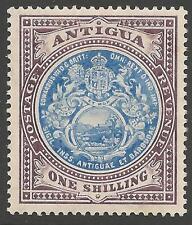 ANTIGUA SG49 1908 1/= BLUE & DULL PURPLE MTD MINT