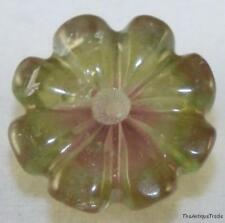 MULTICOLOUR WATERMELON TOURMALINE GEM 14MM GEMSTONE CARVED FLOWER 8.8CT TU10