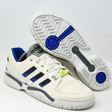 adidas Torsion Comp Tennis Sneaker EE7377 White Black Blue Cream Retro Leather