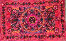 Indian Wall Hanging Tapestry Hippie Bohemian Tapestries Suzani Home Decor Red