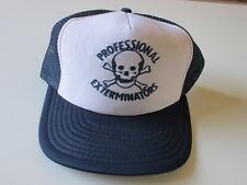 PROFESSIONAL EXTERMINATORS TRUCKER HAT SKULL & CROSSBONES