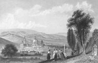 Italy, FLORENCE CATHEDRAL UFFIZI GALLERY PITTI PALACE ~ 1871 Art Print Engraving