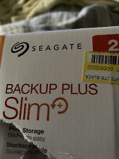Seagate Backup Plus Slim 2TB External Portable Hard Drive HDD
